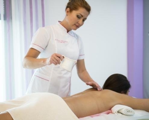 Behandlung in einem Kosmetikstudio